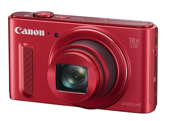 Canon PowerShot SX610 HS 20.2 MP Compact Digital Camera - 1080p - Red