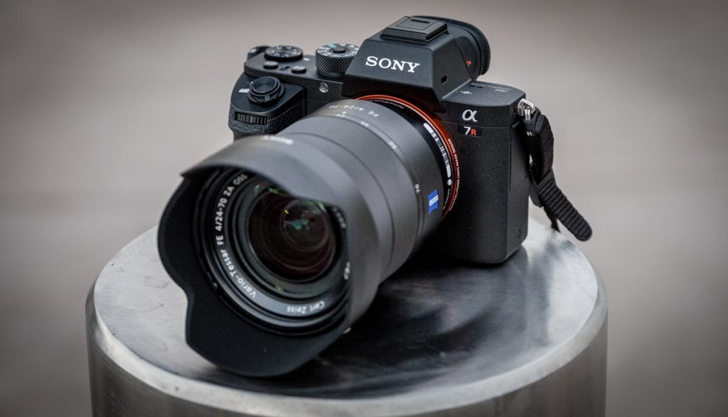 sony alpha on display