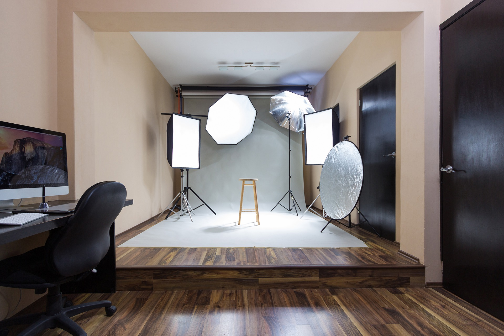 Light Box Photography inside the studio