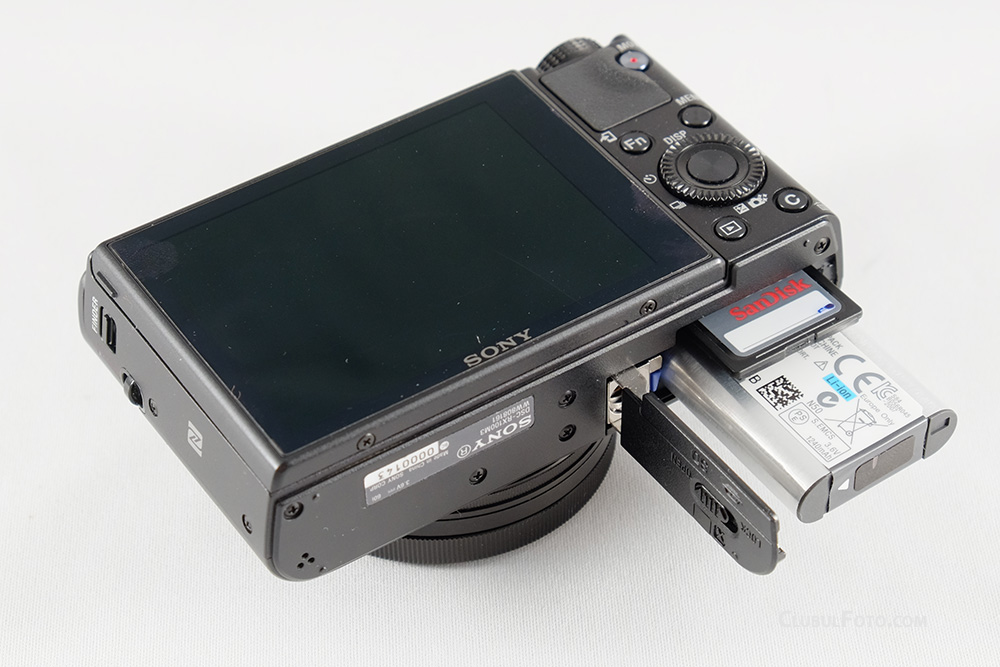 Sony RX100M III Battery Card Cover