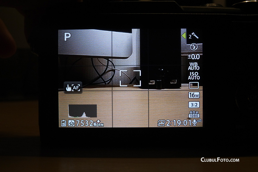 Olympus SH-1 Live View screen