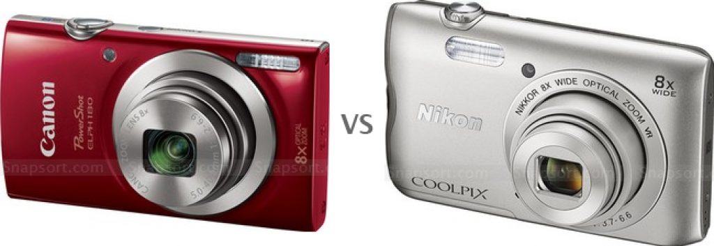 Product photo of Canon PowerShot ELPH 190 IS 20.0 MP Compact Digital Camera vs Nikon Coolpix W100