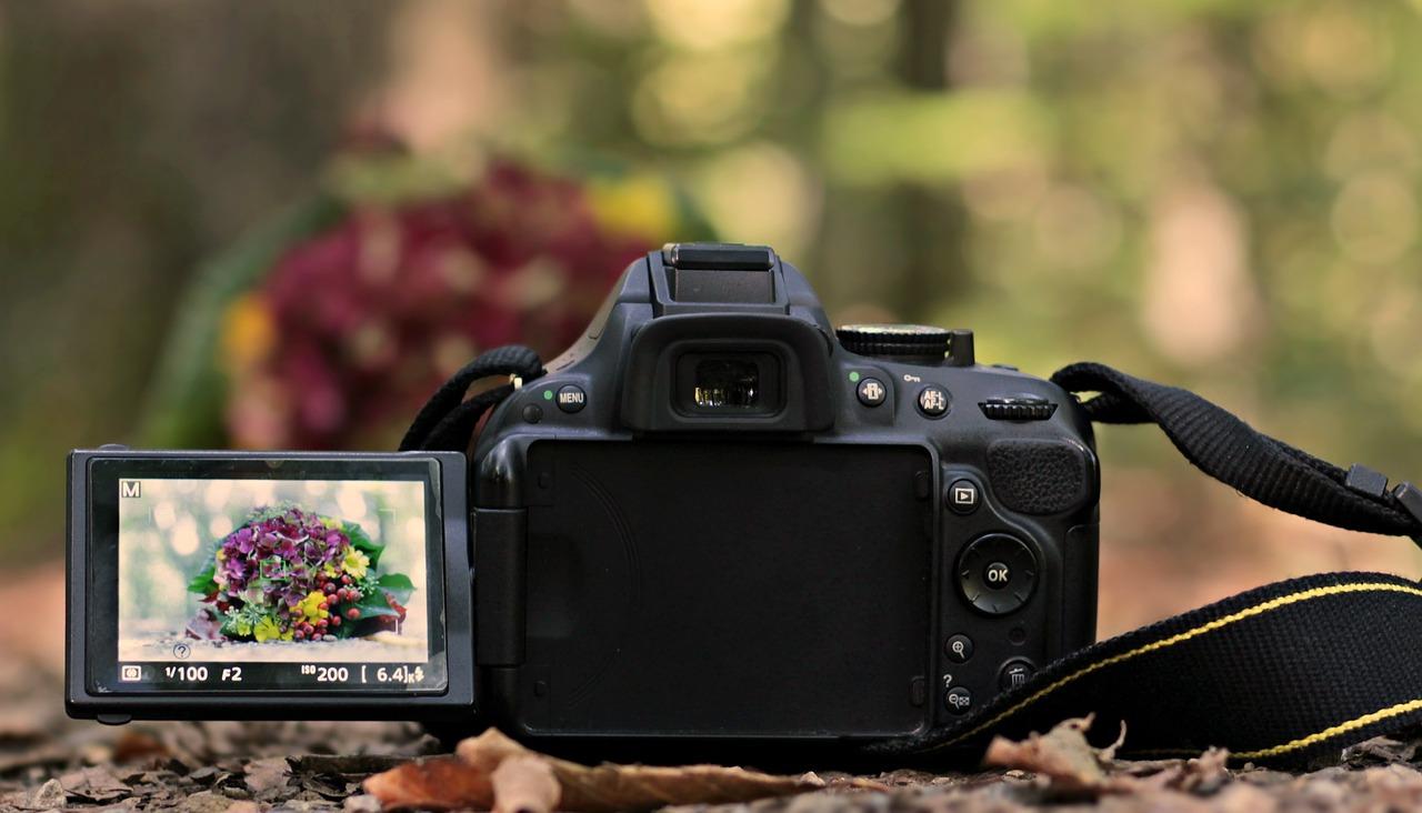Open screen of a canon dslr camera